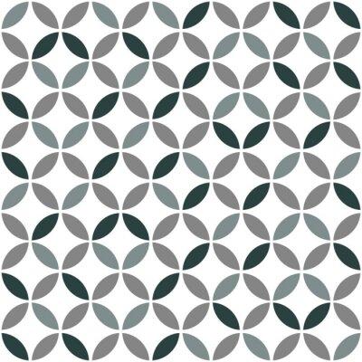 Sticker Grey Geometric Retro Seamless Pattern