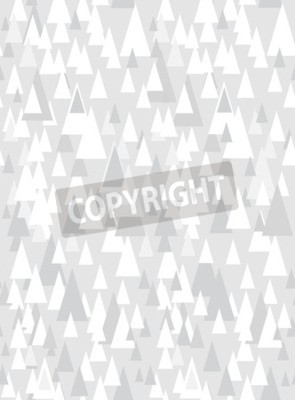 Sticker Grey seamless pattern with decorative triangles and copy space