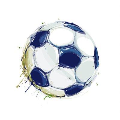 Sticker Grunge Soccer Ball