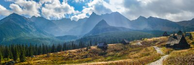 Sticker Hala Gasienicowa in Tatra Mountains - panorama