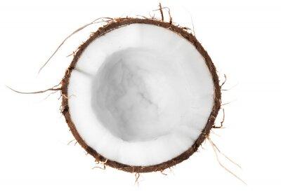 Sticker Half of coconut top view