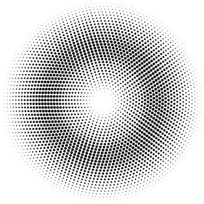 Sticker halftone circle.