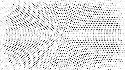 Sticker Halftone dotted background. Halftone effect vector pattern. Circle dots isolated on the white background.
