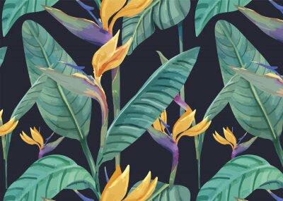 Sticker Hand drawn bird of paradise pattern