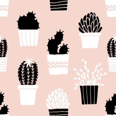 Sticker Hand Drawn Cactus Pattern