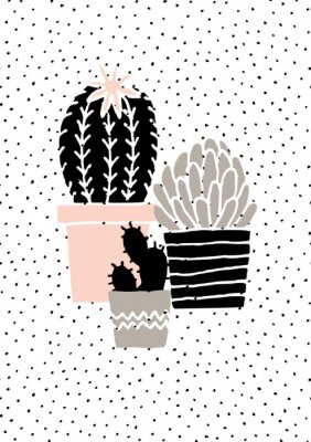 Sticker Hand Drawn Cactus Poster