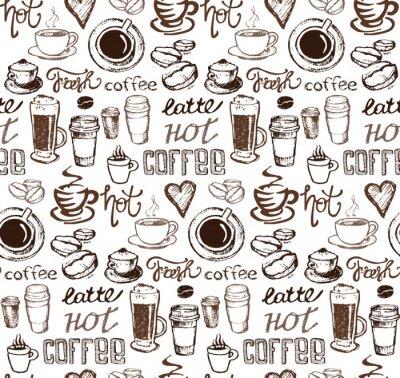 Sticker Hand drawn doodle coffee illustration