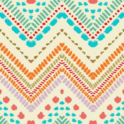 Sticker Hand drawn painted seamless pattern. illustration