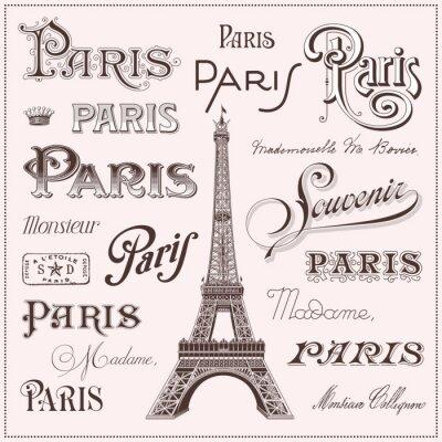 Sticker hand drawn Paris design elements