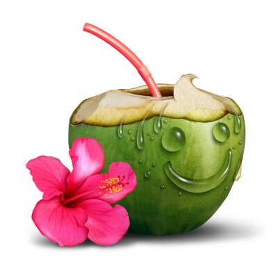 Sticker Happy Tropical Drink Concept