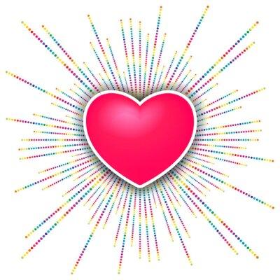 Sticker happy valentines day celebration background
