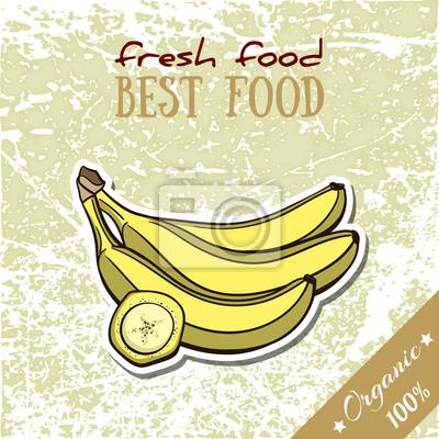 Sticker Healthy Food Banana