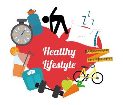 Sticker healthy lifestyle