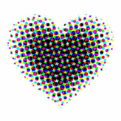 Sticker Heart halftone