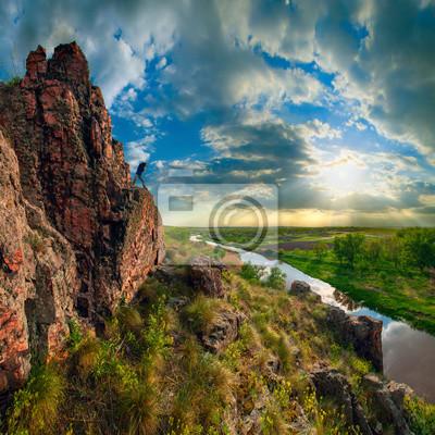 High cliff valley