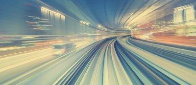 Sticker High speed technology concept via a Tokyo monorail