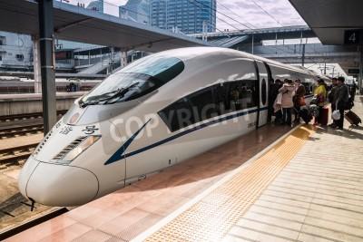 Sticker High-speed trains in Guangzhou