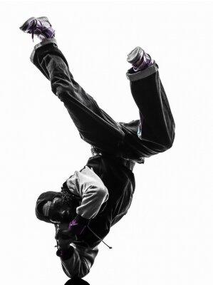 Sticker hip hop acrobatic break dancer breakdancing young man handstand