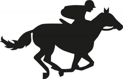 Sticker Horse race silhouette