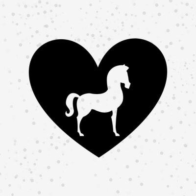 Sticker horse silhouette design