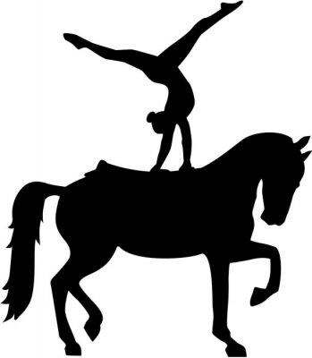 Sticker Horse Vaulting silhouette Voltigieren