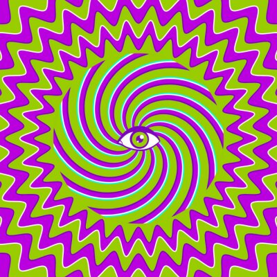 Sticker Hypnotic retro poster