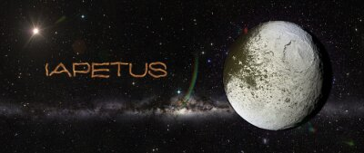 Sticker Iapetus in outer space.