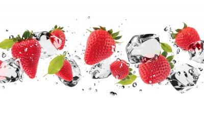 Sticker Ice fruit on white background