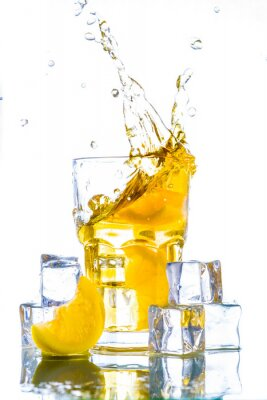 Sticker Ice tea with lemon splash