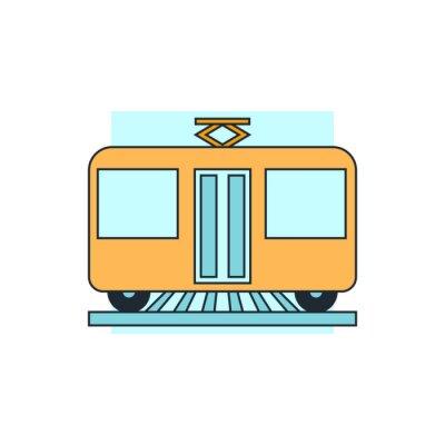 Sticker icon tram view front