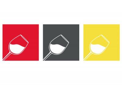 Sticker Icono plano copa de vino #3