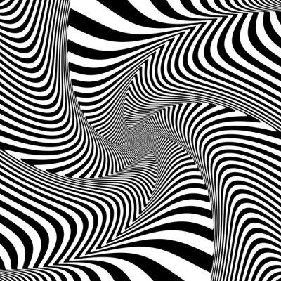 Sticker Illusion of torsion twisting movement.