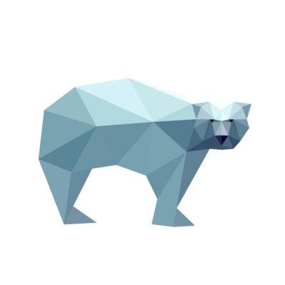 Sticker Illustration of polygonal bear
