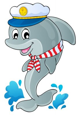 Sticker Image with dolphin theme 1