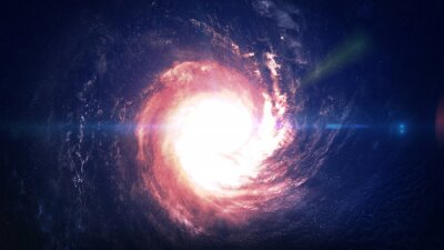 Sticker Incredibly beautiful spiral galaxy somewhere in deep space. Elements of this image furnished by NASA