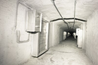Sticker industrial interior of vantilation system tunnel