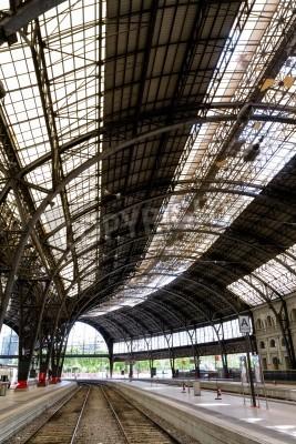Sticker Interesting railway station inside photo