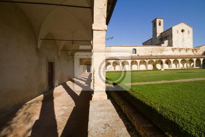 interiors of a tuscany church