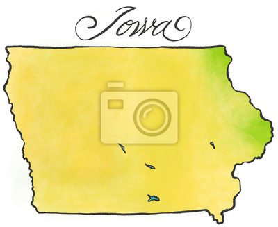 Sticker Iowa map