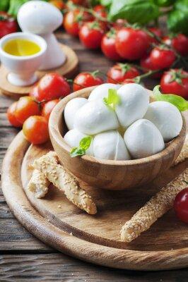 Sticker Italian mozzarella with tomato and basil