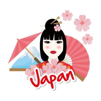 Sticker Japan culture design