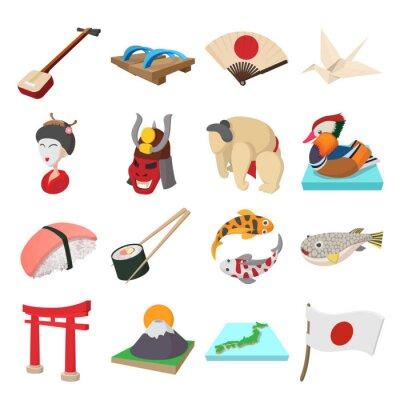 Sticker Japan icons set