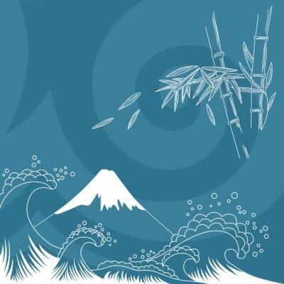 Sticker Japan style illustration
