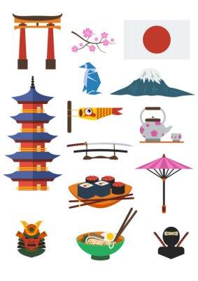 Sticker Japanese Culture Set