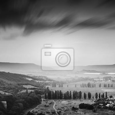 Kachinskaya valley. Black and white