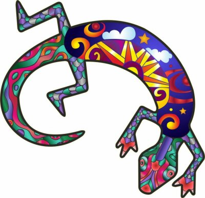 Sticker Kokopelli Lizard