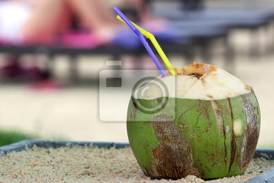 Sticker Kokosnuss Getränk