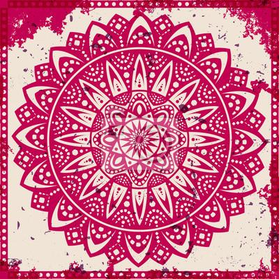 Sticker Lace ornament on grunge background