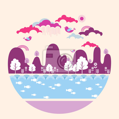 Sticker Landscape