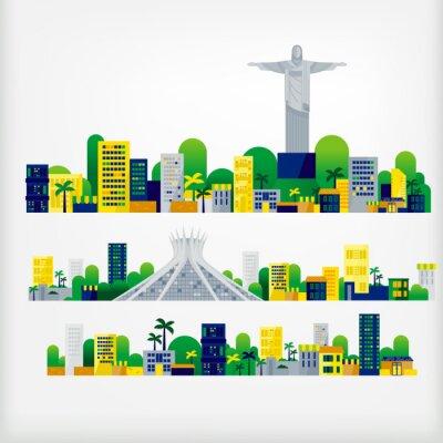 Sticker landscape of brazil